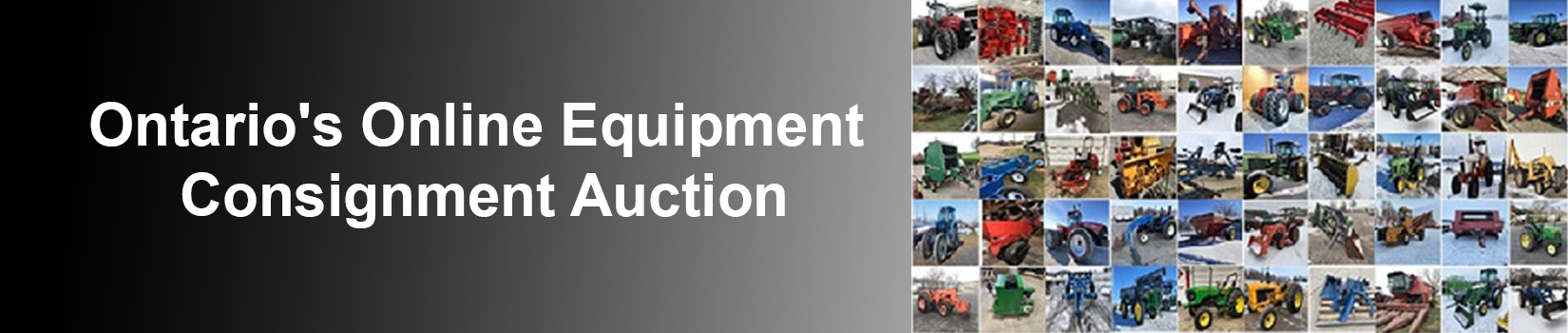 Ontario's Online Equipment Consignment Auctions