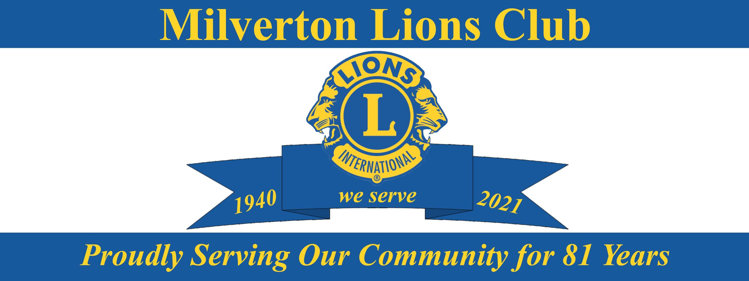 Milverton Lions Club's Logo